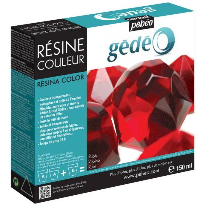 Цветная смола Pebeo Gedeo Colour Resin, рубин